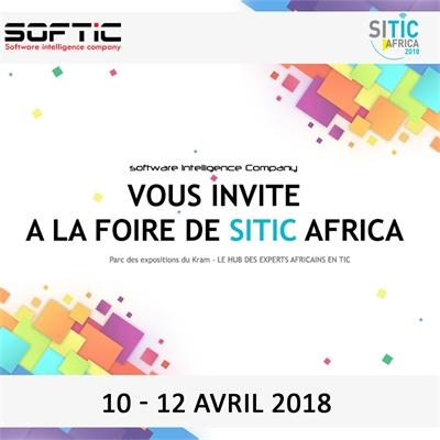SITIC AFRICA 2018 qui se tiendra du 10 au 12 Avril 2018 au parc des expositions El Kram.